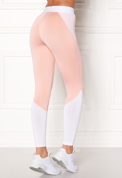 BUBBLEROOM SPORT Strongest sport tights Light pink / White Bubbleroom.se