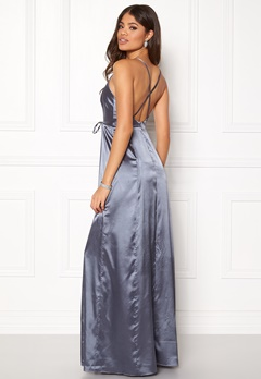 BUBBLEROOM Stella prom dress Dusty blue Bubbleroom.se