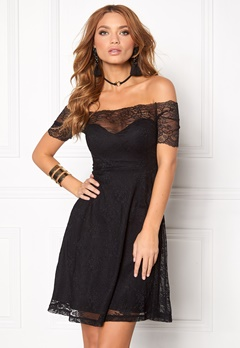 BUBBLEROOM Superior lace dress Black Bubbleroom.fi