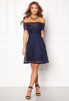 BUBBLEROOM Superior lace dress Dark blue Bubbleroom.no
