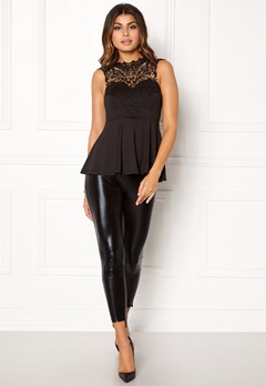 BUBBLEROOM Tamale peplum top Black Bubbleroom.fi