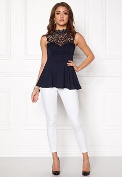 BUBBLEROOM Tamale peplum top Dark blue Bubbleroom.eu