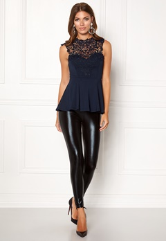 BUBBLEROOM Tamale peplum top Dark blue Bubbleroom.fi