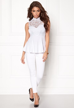BUBBLEROOM Tamale peplum top White Bubbleroom.eu