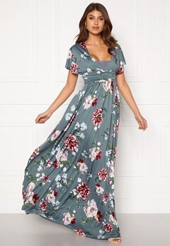 BUBBLEROOM Telma prom dress Blue / Floral Bubbleroom.se