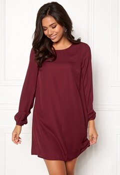 BUBBLEROOM Teresita dress Wine-red Bubbleroom.eu