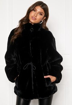 BUBBLEROOM Trixie faux fur jacket Black Bubbleroom.se