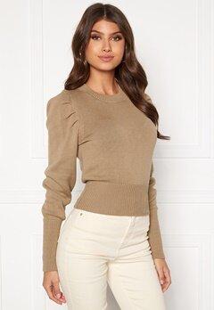 BUBBLEROOM Tua knitted sweater Dark beige Bubbleroom.se