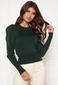 BUBBLEROOM Tua knitted sweater Dark green Bubbleroom.se
