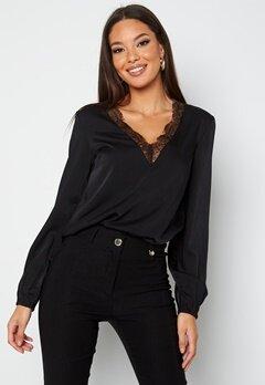 BUBBLEROOM Vallie lace blouse Black bubbleroom.se