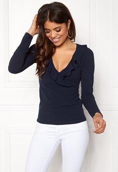 BUBBLEROOM Versie frill top Navy Bubbleroom.no