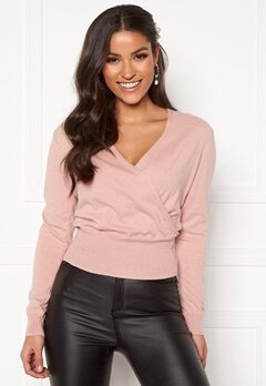 BUBBLEROOM Vevina knitted top Dusty pink Bubbleroom.se
