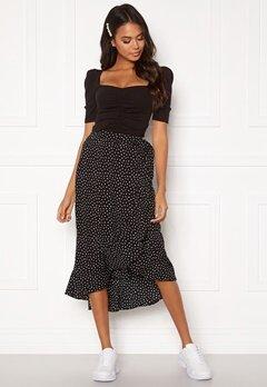 BUBBLEROOM Villima midi skirt Black / White / Dotted Bubbleroom.se