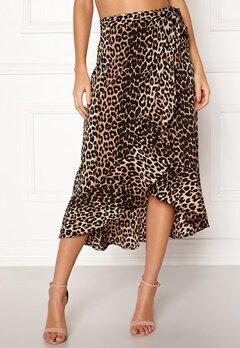 BUBBLEROOM Villima midi skirt Leopard Bubbleroom.se