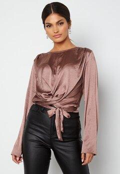 BUBBLEROOM Yasmin tie blouse Old rose bubbleroom.se
