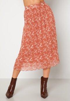 BUBBLEROOM Zarie pleated skirt Dusty pink / Floral Bubbleroom.se