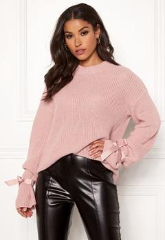 BUBBLEROOM Casey knitted sweater Dusty pink Bubbleroom.se