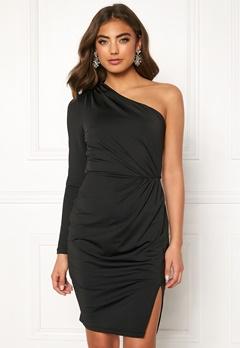 BUBBLEROOM Meryam one shoulder dress Black Bubbleroom.se