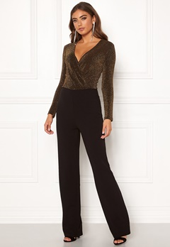 BUBBLEROOM Edalia sparkling top jumpsuit Black / Gold Bubbleroom.se