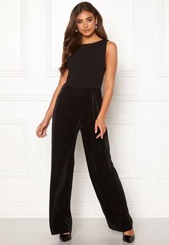 Moa Mattsson X Bubbleroom Pleated pants jumpsuit Black Bubbleroom.se