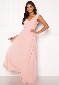 BUBBLEROOM Candance pearl prom dress Dusty pink Bubbleroom.se