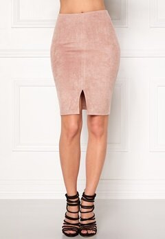 BUBBLEROOM Gossip suede  Skirt Dusty pink Bubbleroom.eu