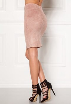 BUBBLEROOM Gossip suede skirt Dusty pink Bubbleroom.fi