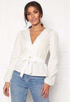 BUBBLEROOM Elina blouse White Bubbleroom.se