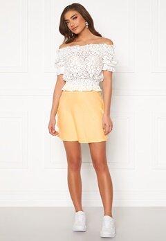 BUBBLEROOM Hilda skirt Light yellow Bubbleroom.se