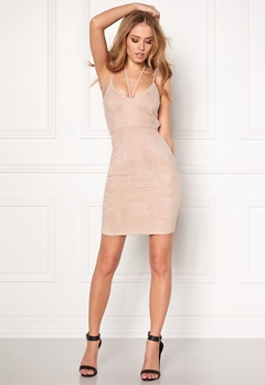 BUBBLEROOM Eccentric suede Dress Beige Bubbleroom.eu