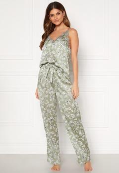 BUBBLEROOM Steph printed pyjama set Dusty green / Floral Bubbleroom.se