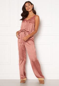 BUBBLEROOM Steph printed pyjama set Dusty pink / Dotted Bubbleroom.se