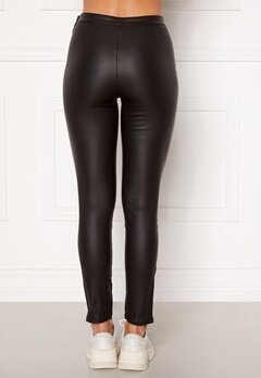 BUBBLEROOM Brienne coated zip leggings Black Bubbleroom.se