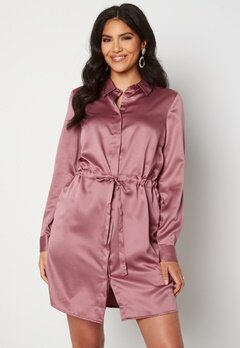 BUBBLEROOM Kelly shirt dress Dusty pink Bubbleroom.se