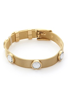 BY JOLIMA Adele Crystal Bracelet Crystal Gold Bubbleroom.se