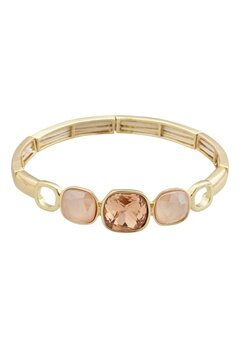 BY JOLIMA Glam Bangle Bracelet Champagne Gold Bubbleroom.se