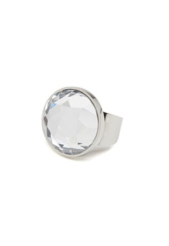 BY JOLIMA Holy Glam Ring Crystal Silver Bubbleroom.se