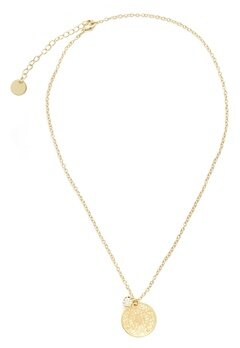 BY JOLIMA Spinn Crystal Necklace Gold Bubbleroom.se