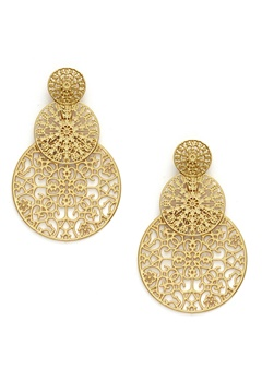 BY JOLIMA Spinn Triple Earring Gold Bubbleroom.se