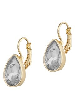 BY JOLIMA Tear Drop Earring Crystal Gold Bubbleroom.se