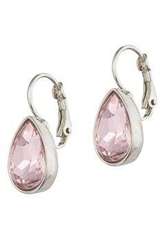 BY JOLIMA Tear Drop Earring Light Rose Silver Bubbleroom.se