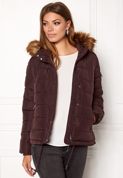 b.young Amanda puffer jacket 80631 Beetroot Bubbleroom.se