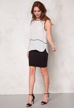 b.young Ilja Top 80115 Off White Bubbleroom.se