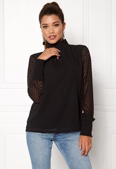 b.young Isetta Blouse Black Bubbleroom.no
