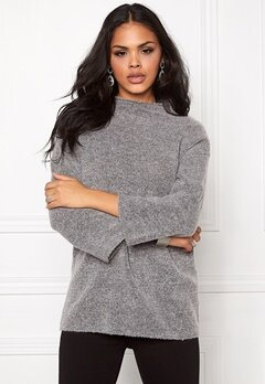 b.young Oyester Turtle Neck Med.grey Melange Bubbleroom.se