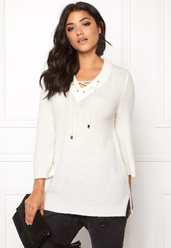 b.young Oyester v-neck Sweater Off White Bubbleroom.se