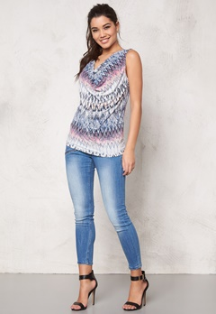 b.young Sanja Top 80412 Chambray Blue Bubbleroom.se