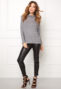 b.young Uhanna Roll neck Asphalt mel Bubbleroom.se