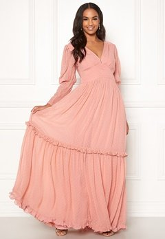 byTiMo Delicate Gown 477 Dusty Pink Bubbleroom.se
