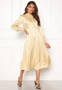 byTiMo Jaquard Shirt Dress 342 Golden Bubbleroom.se